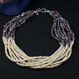 Marna Hass Pearl Necklace - real pearls, 8 strands